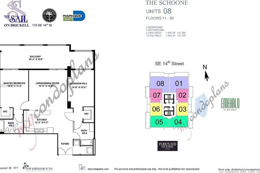 Sail At Brickell Unit 2808 2 Bedroom Condo For Sale 1090